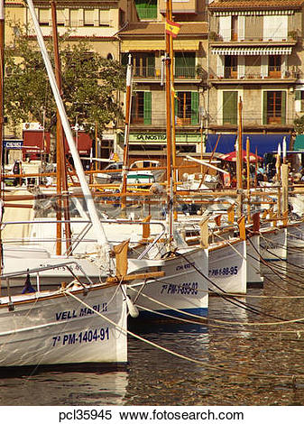 Stock Image of Port De Soller, Evening Light pcl35945.