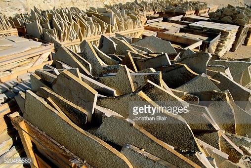 Solnhofen Limestone Quarries Stock Photo.