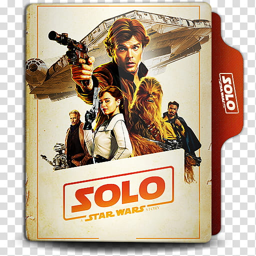 Solo A Star Wars Story Folder Icon, Han Solo () transparent.