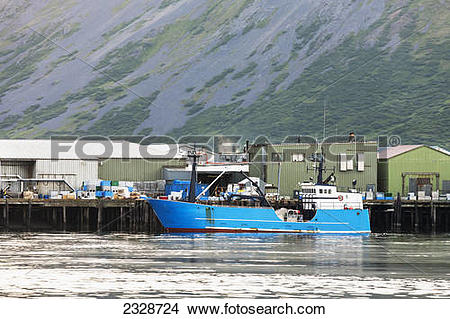 Stock Photo of The commercial salmon fishing tender vessel, Misty.