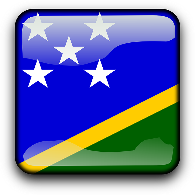 Solomon Islands Flag Clipart.