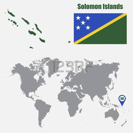 195 Map Of Solomon Islands Stock Vector Illustration And Royalty.