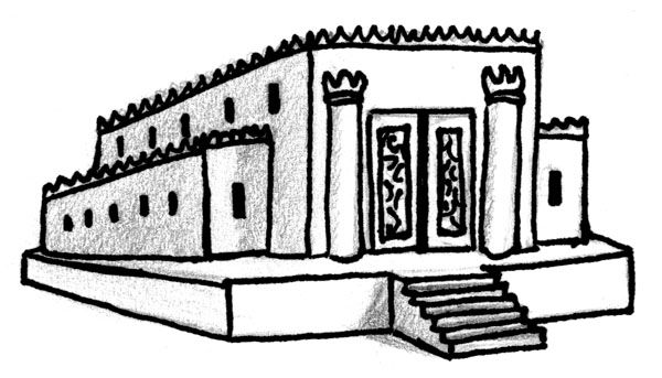 now we are going out of Solomon\'s temple to the third.