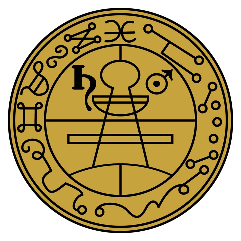 Secret Seal of Solomon Die Cut Sticker.