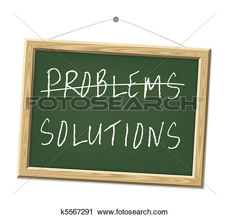 Clipart of problems and solutions k5567291.