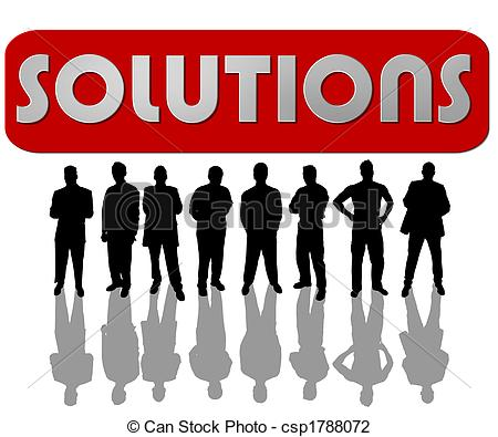 Clip Art of business people solutions csp1788072.
