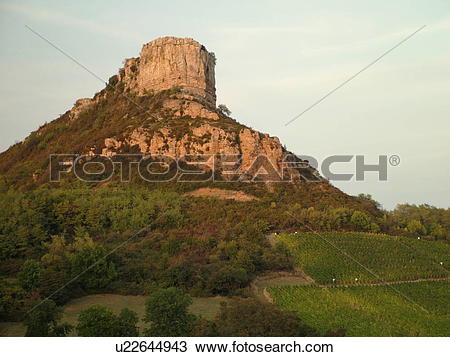 Stock Photo of France, Solutre, Soane et Loire, Europe, Beaujolais.