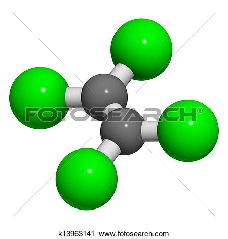 Clipart of perchloroethylene (tetrachloroethylene) dry.