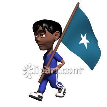 Somalia flag clipart.