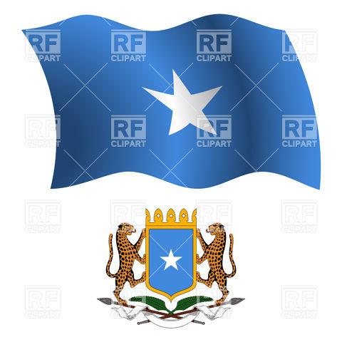 Heart with Somalian flag colors. I love Somalia Vector Image.