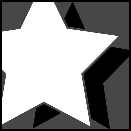 Clipart vetorial de ícone de estrela com sombra.