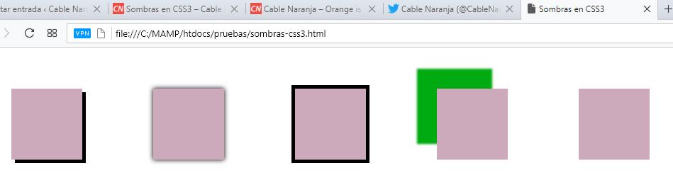 Sombras en CSS3.