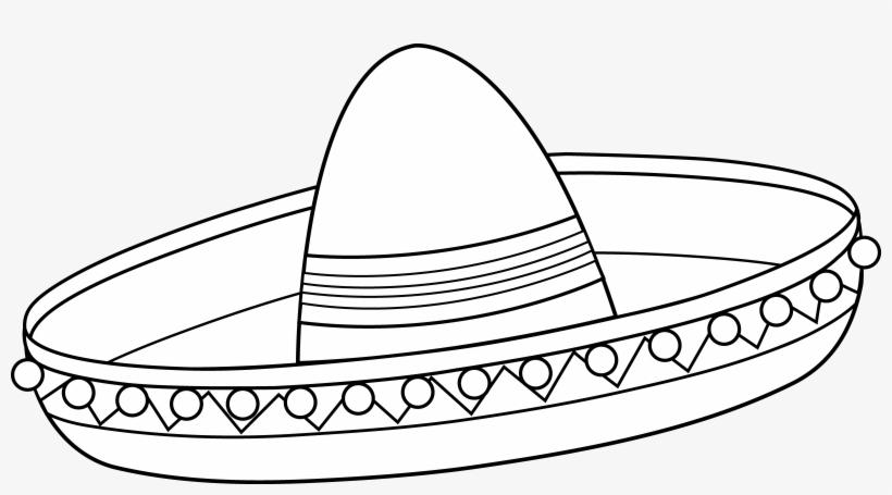 Mexican Sombrero Coloring Page.