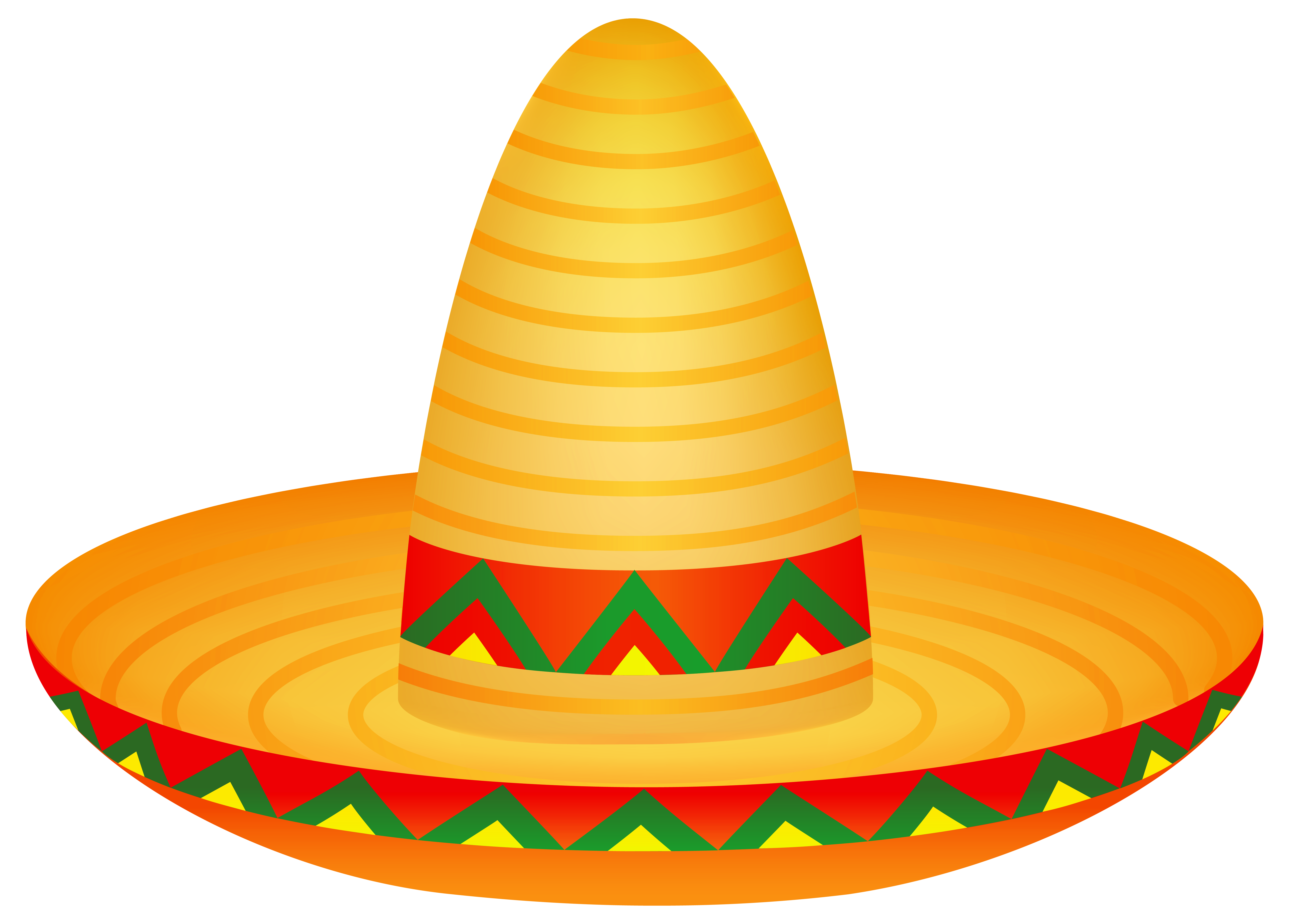 Mexican Sombrero PNG Clipart Image.