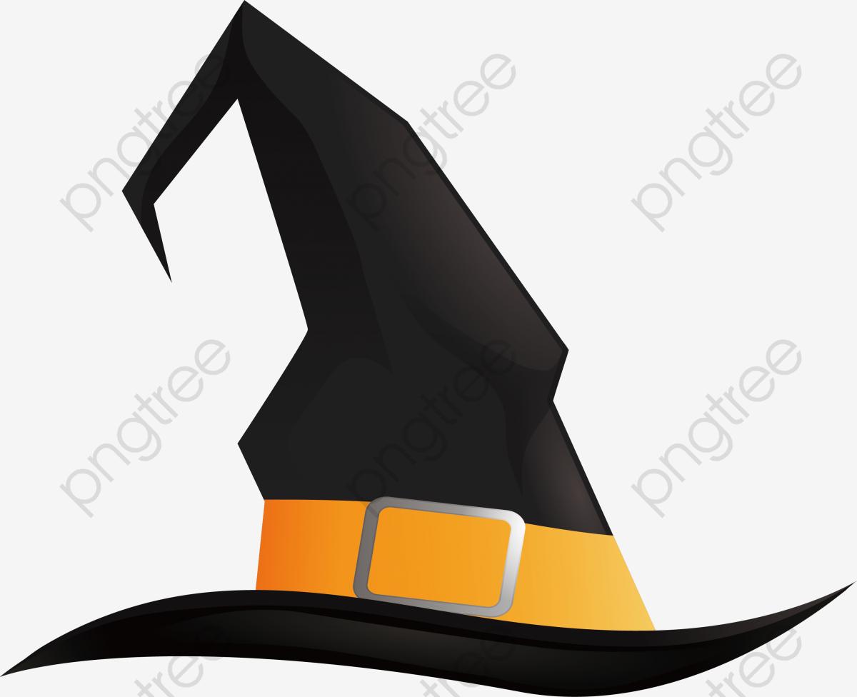 Negro Sombrero De Mago, Vector Png, Mago, Sombrero De Mago.