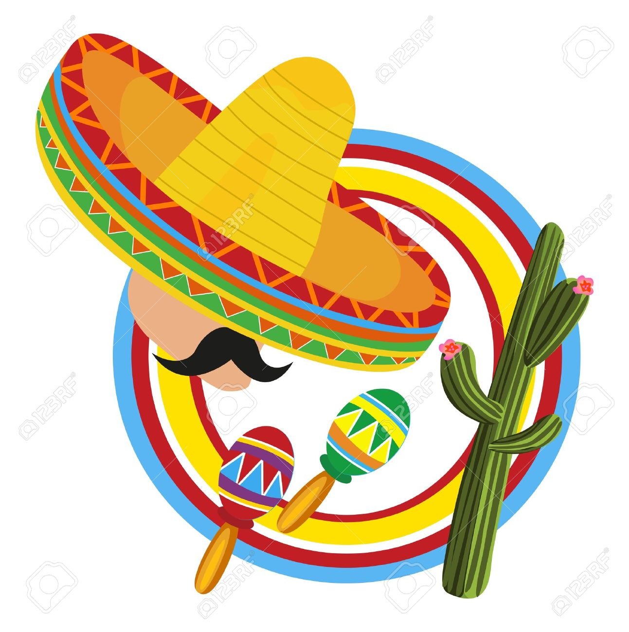 Ensemble de symboles vector mexicain — Illustration #62099655.
