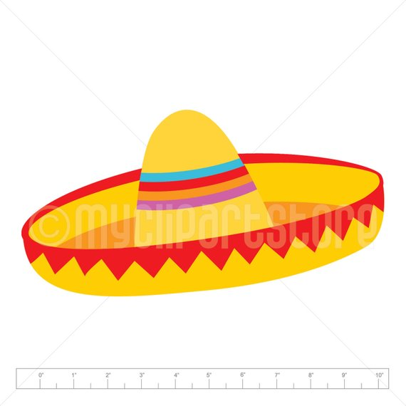 Sombrero Clipart Single, Viva Mexico, Cinco De Mayo, Mexican.