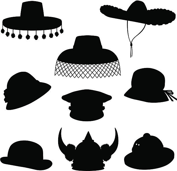 Sombrero Hats Clipart Silhouette 20 Free Cliparts