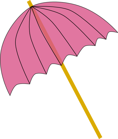 Umbrella / Parasol Pink Tranparent Clip Art at Clker.com.