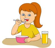 clipart eat breakfast.