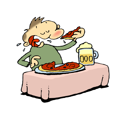Clipart Of Someone Eating.