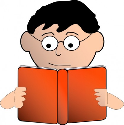 Person Reading Clipart.