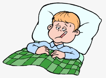 Free Sick Kid Clip Art with No Background.