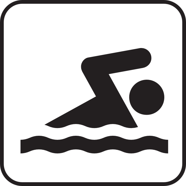 Someone Swimming Clipart.