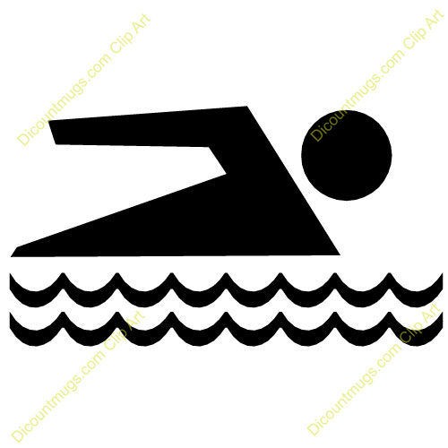 People Swimming Clipart.