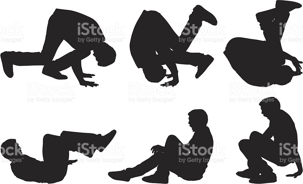 Casual Male Doing A Somersault stock vector art 167590426.