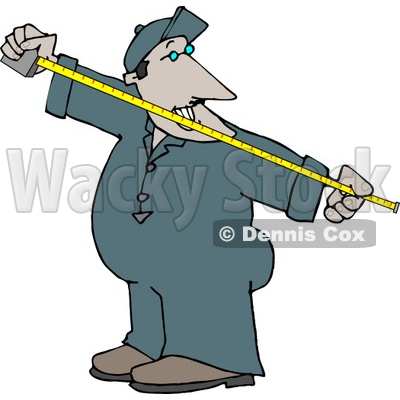 Measuring Something with a Tape Measure Clipart © Dennis Cox #4717.