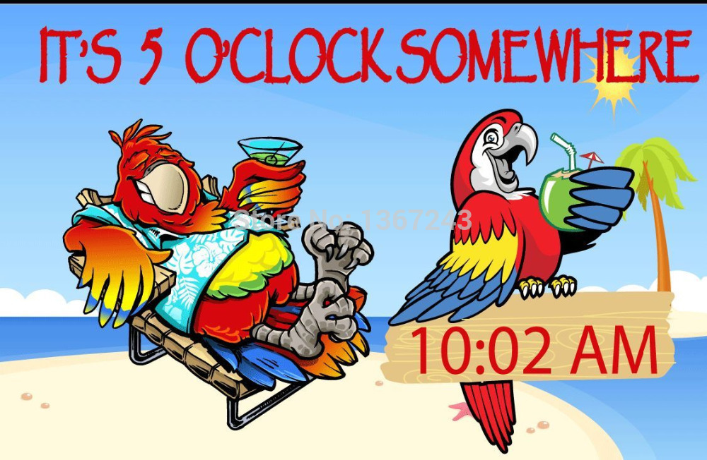 5 O Clock Somewhere Clipart.