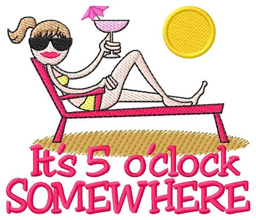 It's 5 o'clock somewhere clip art.