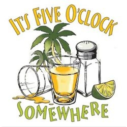 It's 5 O'clock Somewhere Clipart.