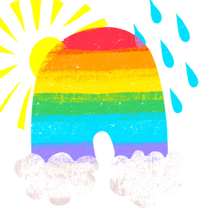 Organic Children's Somewhere over the rainbow tee.