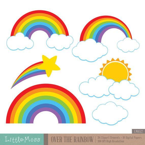 Over The Rainbow Clipart.