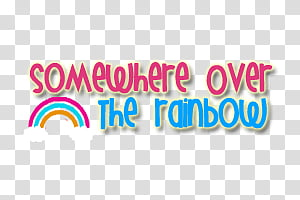 Somewhere Over the Rainbow PNG clipart images free download.