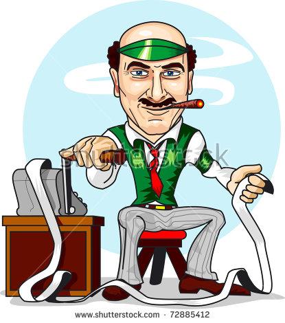 Smoking Accountant Calculating Money Income Stock Vector 72885412.