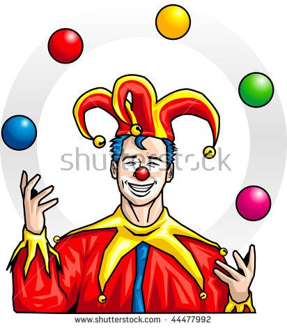 Man Juggler Dress Stock Vector 44477992.