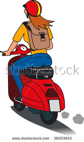 Scooter Girl Stock Vector 38203045.