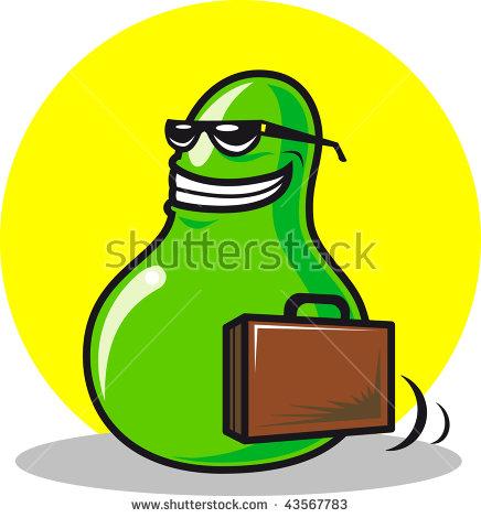 Traveling Avocado Stock Vector 43567783.