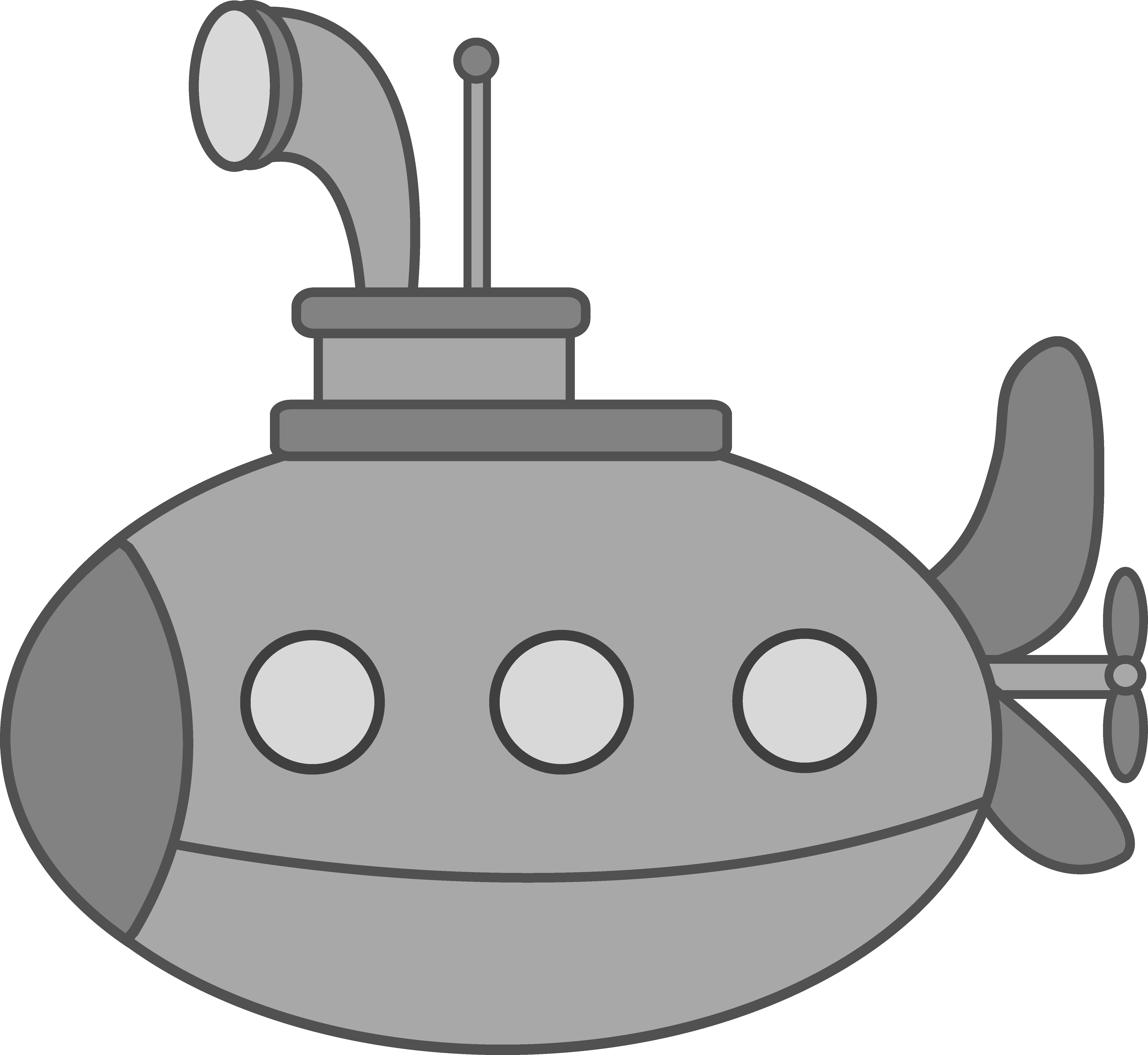 Cute Silver Submarine.