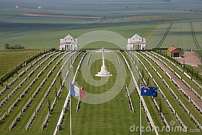British WWI Helmets And Kits On Somme Battlefield Royalty Free.