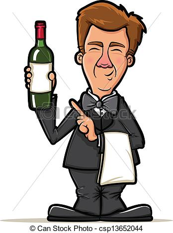 Sommelier Clip Art and Stock Illustrations. 542 Sommelier EPS.