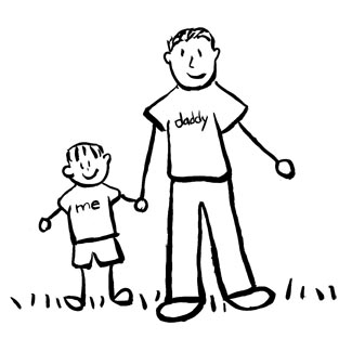 Father And Son Clipart Black And White.