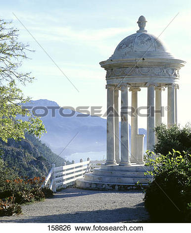 Stock Images of Ionic temple with mountain in background, Son.