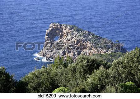 Stock Photograph of Penninsula Punta de Na Foradada near Son.