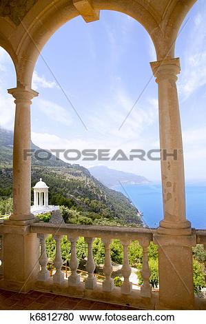 Stock Photography of Deia mirador des Galliner Son Marroig Majorca.
