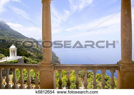 Stock Photo of Deia mirador des Galliner Son Marroig Majorca.