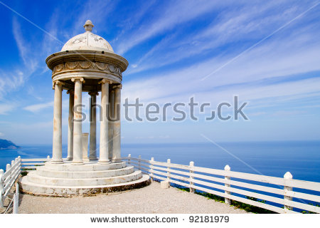 Es Galliner Mirador In Son Marroig Over Mediterranean Majorca Sea.